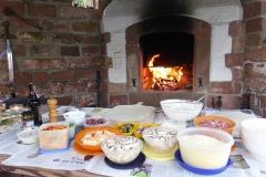 der Ofen brennt